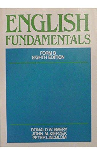 9780023331206: English fundamentals, Form B