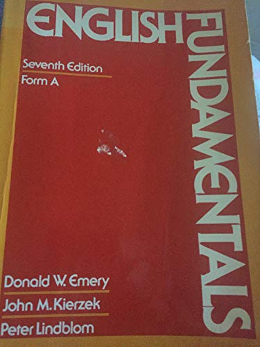 9780023334900: English fundamentals, Form A