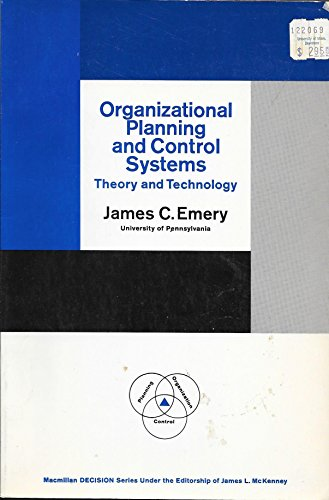 Organizational Planning and Control Systems (Theory and Technology)