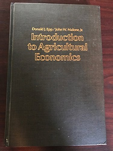 9780023339400: Introduction to Agricultural Economics
