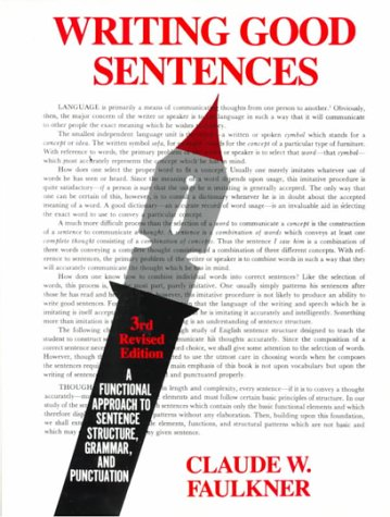 9780023364709: Writing Good Sentences, Revised Edition (3rd Edition)