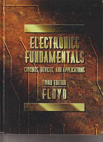 9780023386541: Electronic Fundamentals 3e Hd