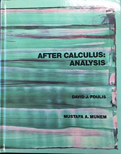 9780023391309: After Calculus Analysis