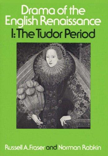 9780023395703: Drama of the English Renaissance: Volume 1, the Tudor Period: 001