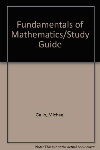 9780023403439: Fundamentals of Mathematics/Study Guide