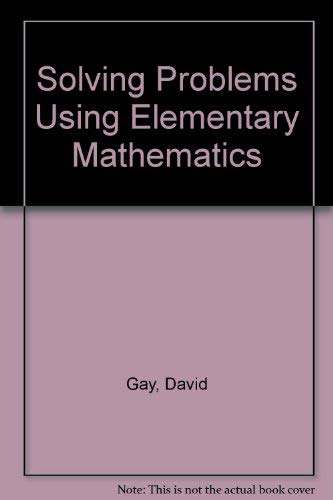 9780023411014: Solving Problems Using Elementary Mathematics