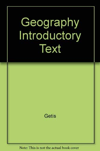 9780023415500: Geography Introductory Text