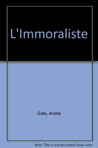 9780023422102: L'Immoraliste