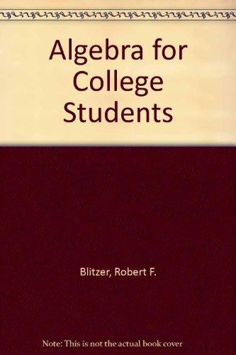 9780023430404: Algebra for College Students
