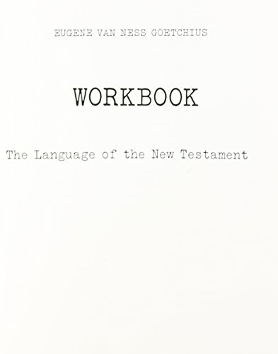9780023445408: The Language of the New Testament Workbook