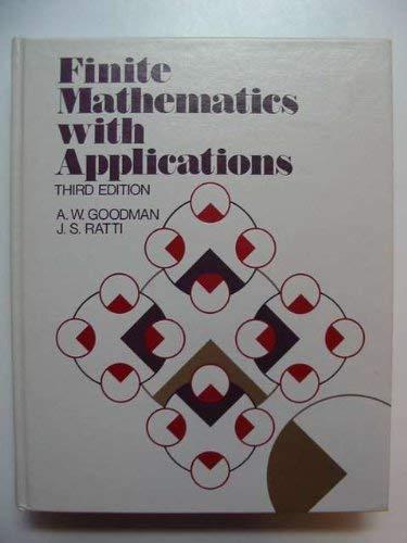 9780023447600: Finite Mathematics with Applications