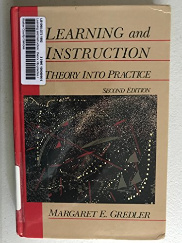 9780023462405: Learning and Instruction: Theory into Practice