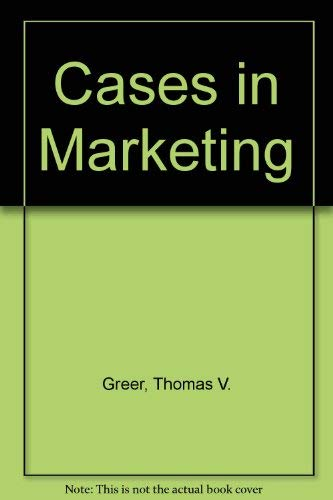 9780023470301: Cases in Marketing
