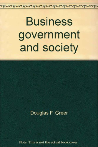9780023470509: Business, government, and society