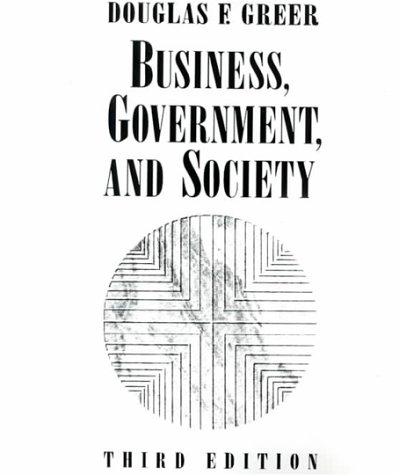 9780023471506: Business, Government, and Society, 3rd Edition