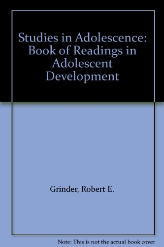 9780023473005: Studies in Adolescence: Book of Readings in Adolescent Development