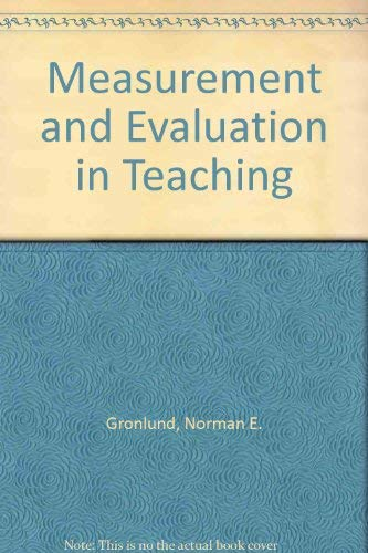9780023480508: Measurement and Evaluation in Teaching