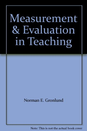 9780023481109: Measurement and Evaluation in Teaching