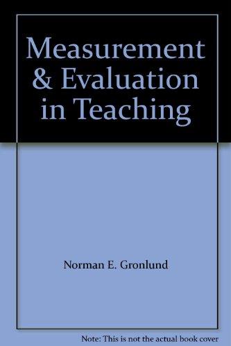 9780023481109: Measurement & Evaluation in Teaching