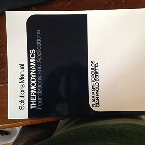 9780023484568: Solutions Manual Thermodynamics Foundations and Applications