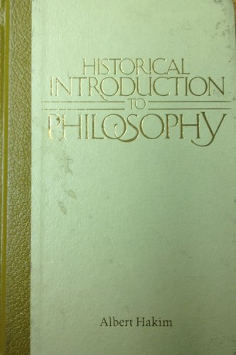 9780023487903: Historical Introduction to Philosophy