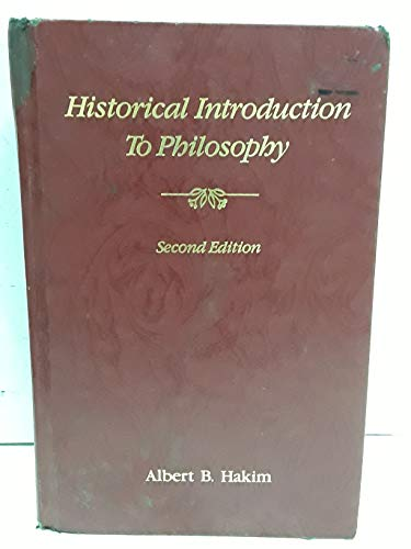 9780023487958: Historical Introduction to Philosophy