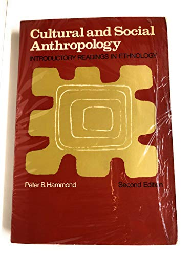 9780023496301: Cultural and Social Anthropology: Introductory Readings in Ethnology