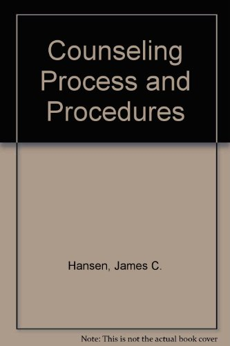 9780023500305: Counseling Process and Procedures
