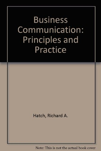 9780023517242: Business Communication: Principles and Practice