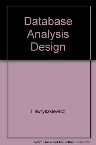 9780023518409: Database Analysis Design