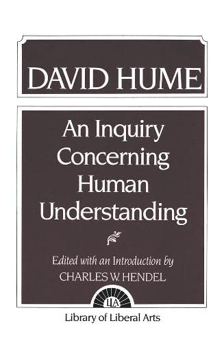 9780023531101: Hume: An Inquiry Concerning Human Understanding