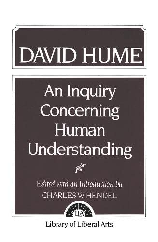 9780023531101: An Inquiry Concerning Human Understanding