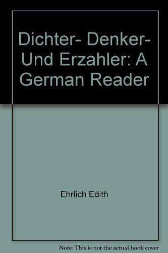 9780023534201: Dichter, Denker, und Erzahler: A German reader