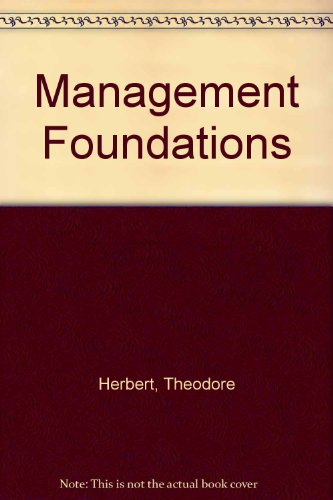 9780023537707: Management Foundations