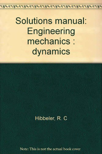 9780023540905: Solutions manual: Engineering mechanics