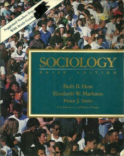 9780023544316: Sociology: Brief Edition