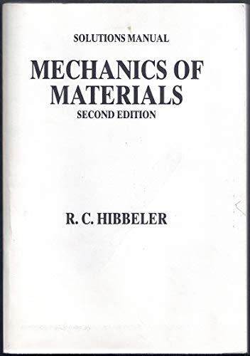 9780023544460: Solutions Manual Mechanics of materials