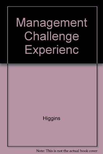 9780023544880: Management Challenge Experienc
