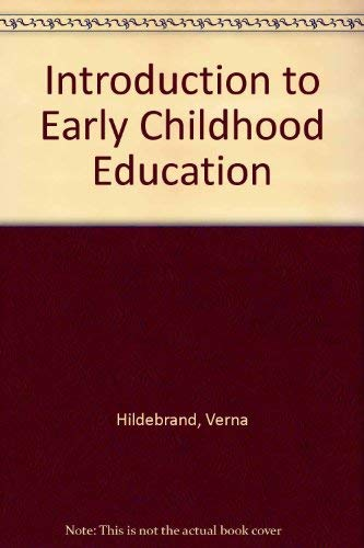 9780023545351: Introduction to Early Childhood Education