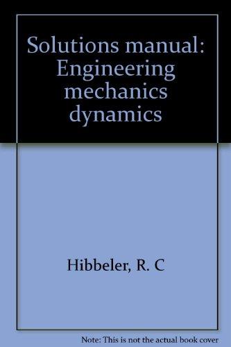 9780023547638: Solutions manual: Engineering mechanics dynamics