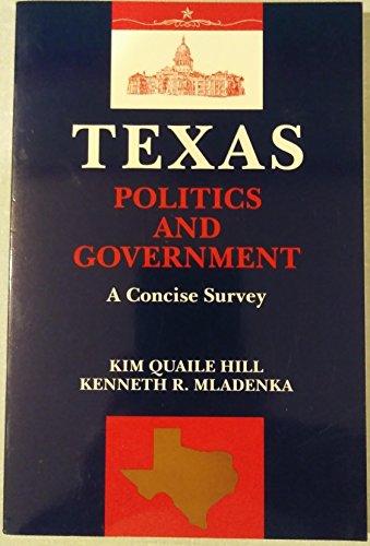 9780023548550: Texas Politics and Government: A Concise Survey