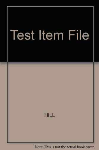 9780023551048: Test Item File, Chemistry for Changing Times