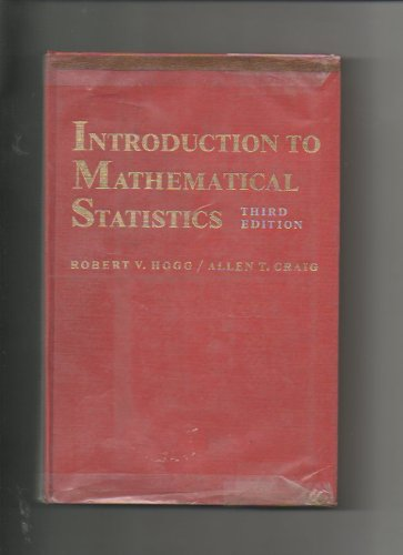 9780023556708: Introduction to Mathematical Statistics