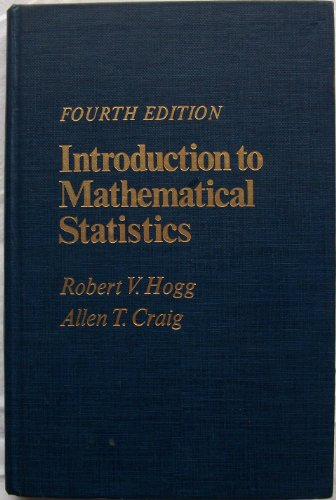 9780023557101: Introduction to Mathematical Statistics