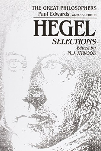 9780023597220: Hegel: Selections (The Great Philosophers Series)
