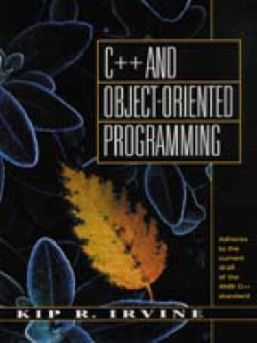 9780023598524: C++ and Object Oriented Programming