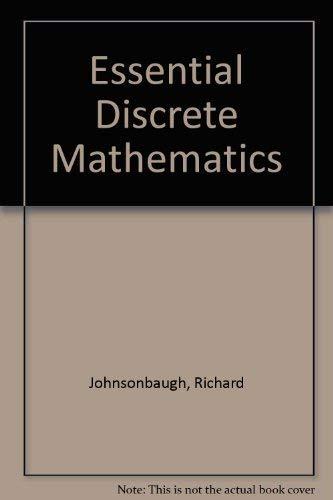 9780023606304: Essential Discrete Mathematics
