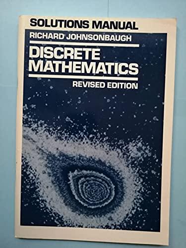 9780023607301: Solutions manual: Discrete mathematics