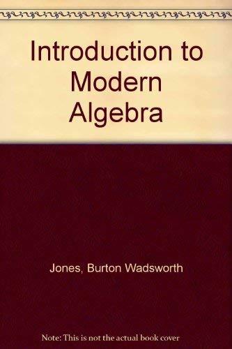 9780023612503: Introduction to Modern Algebra