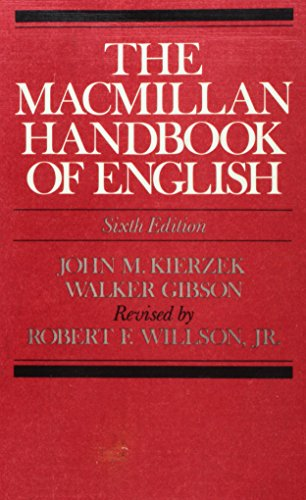 9780023630408: The Macmillan handbook of English
